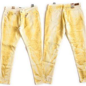 Levis leggings jean, Sz 13/31,tie dye yellow